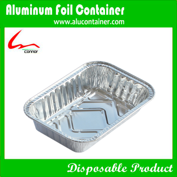 Rectangular Aluminum Foil Lunch Box For Food Packaging