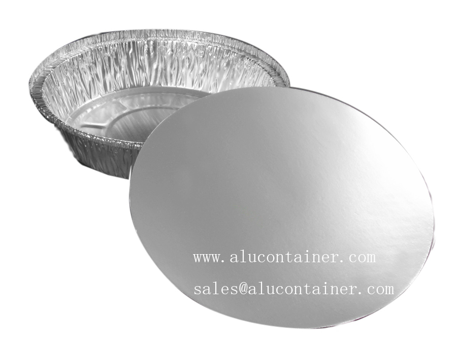 8 Inch Round Foil Take Out Container WIth Board Lids