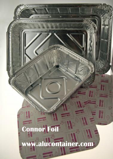 Aluminium Foil Carboard Lids For TakeOut Containers